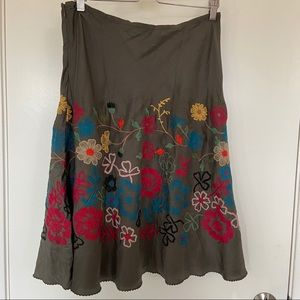 Johnny Was Embroidered Skirt